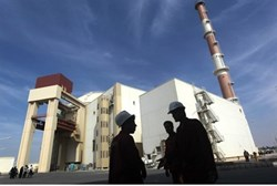 The Bushehr nucear power plant in southern Iran